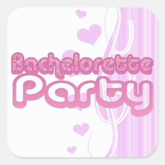 bachelorette pourpre rose épousant l'amusement sticker carré