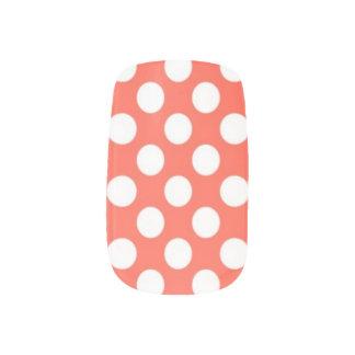 Bâches blanches de corail de clou de motif de poin ongles nail art
