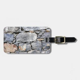Backgound des pierres naturelles comme mur étiquette à bagage