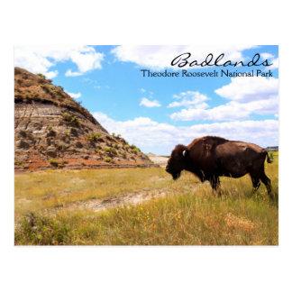 Bad-lands de carte postale du Dakota du Nord