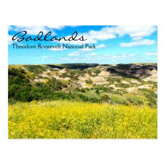 Bad-lands de Theodore Roosevelt, carte postale de