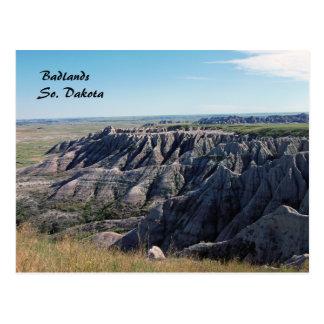 Bad-lands, le Dakota du Sud Carte Postale