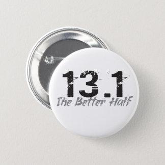 Badge 13,1 La tendre moitié - demi de marathonien