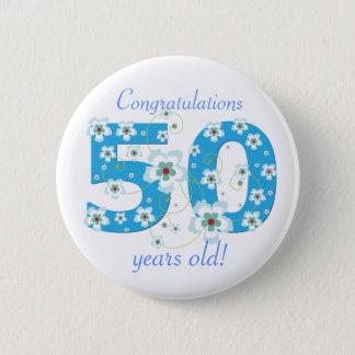 Badge 50 années d'anniversaire de bouton de