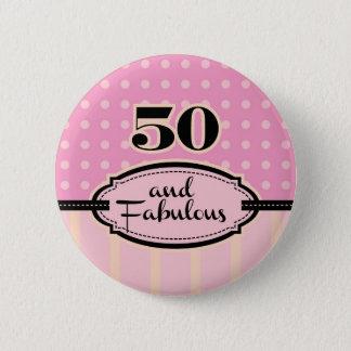 Badge 50 et bouton fabuleux