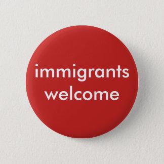 Badge accueil d'immigrés