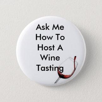 Badge Accueillez un échantillon de vin