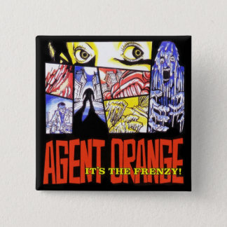 "Badge Agent Orange ""c'est bouton de punk de carré de la"