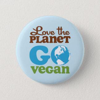 Badge Aimez la planète vont végétalien