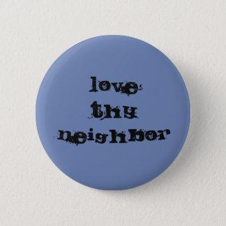 Badge Aimez Thy bouton voisin - bleu