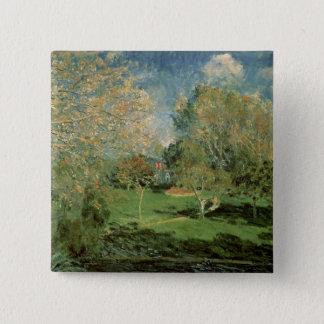 Badge Alfred Sisley   le jardin de la famille de