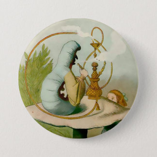 "Badge Alice-Caterpillar avec Hooka - 3"" bouton"