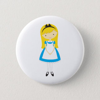 Badge Alice debout au pays des merveilles