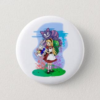 Badge Alice et son bouton merveilleux d'amis