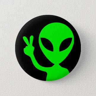 Badge Alien de signe de paix