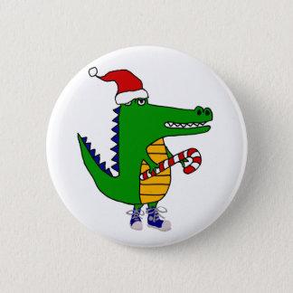 Badge Alligator mignon dans la bande dessinée de Noël de