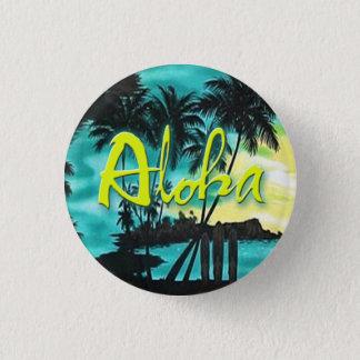 Badge Aloha Pin de coucher du soleil d'Aqua