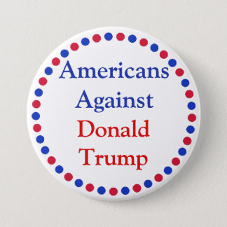 Badge Américains contre le bouton de Donald Trump