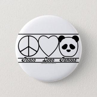 Badge Amour et pandas de paix