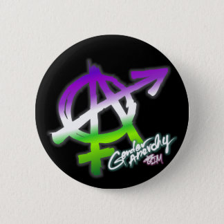 Badge Anarchie de genre - couleurs de Genderqueer -