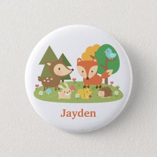 Badge Animal mignon de forêt de région boisée pour des