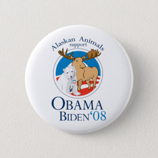Badge Animaux d'Alaska pour le bouton d'Obama