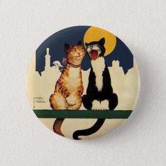 Badge Animaux de chats chantant, drôles et idiots