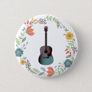 Badge Anneau de fleur de guitare