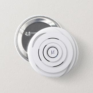 Badge Anneaux blancs de recouvrement - faux 3D - bouton