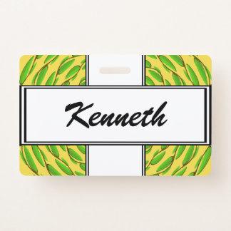 Badge Anneaux concentriques de feuille par Kenneth