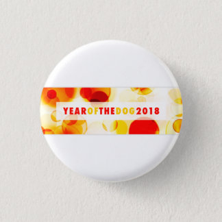 Badge Année de la bannière 2018 de Bokeh de chien
