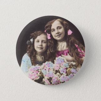 Badge Année français vintage de bonne de filles de carte