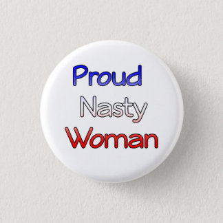Badge Anti-Atout méchant fier de bouton de femme