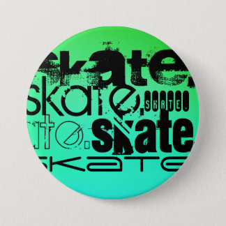 Badge Aqua, gradient vert au néon ; Patin
