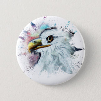 Badge Aquarelle Eagle chauve