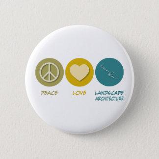 Badge Architecture de paysage d'amour de paix