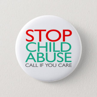 Badge Arrêtez le mauvais traitement à enfant