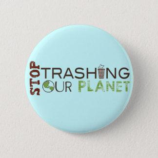 Badge Arrêtez les déchets