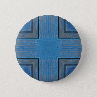 Badge arrière - plan en bois bleu