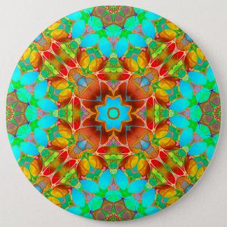 Badge Art floral G410 de fractale de bouton