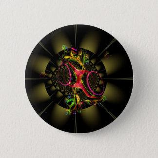 Badge Art géométrique de fractale colorée de décadence