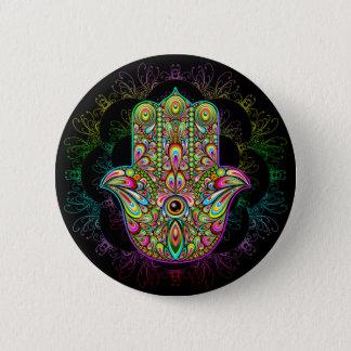 Badge Art psychédélique de main de Hamsa