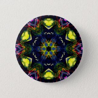 Badge Art spirituel curatif de méditation de mandala de
