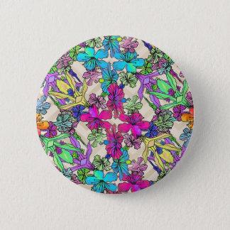 Badge Art texturisé de fleur