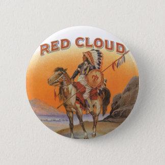 Badge Art vintage d'étiquette de cigare, Indien rouge de