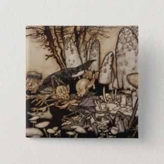 Badge Arthur Rackham | Peter Pan dans des jardins de