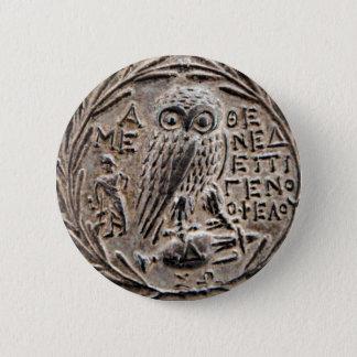 Badge Athènes Tetradrachm argenté