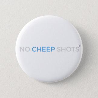 Badge Aucun blanc de bouton de T-shirt de tirs de