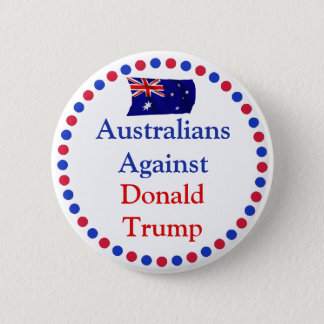 Badge Australiens contre le bouton de Donald Trump