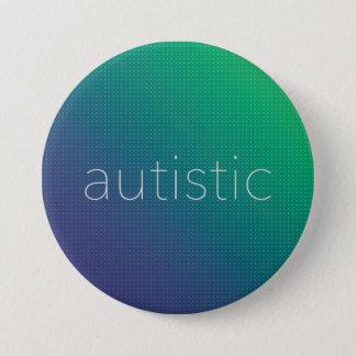 Badge Autiste - image tramée verte et bleue